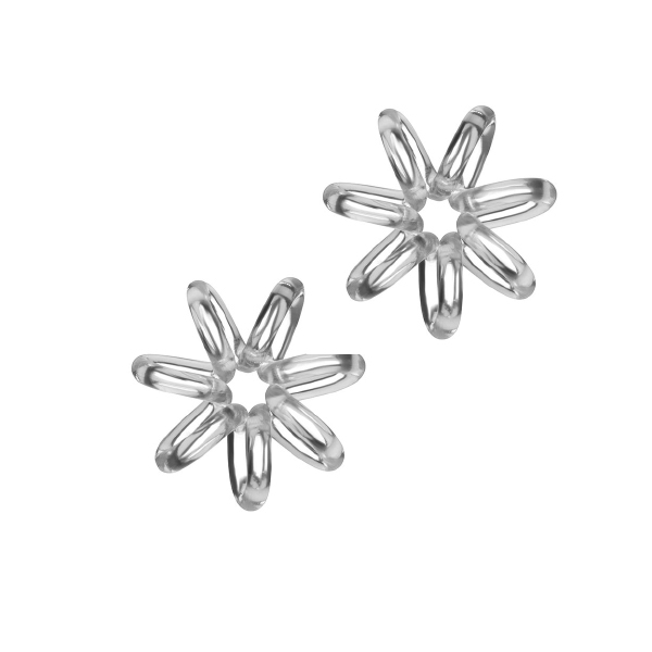 Hair Hoops Clear Star x 2