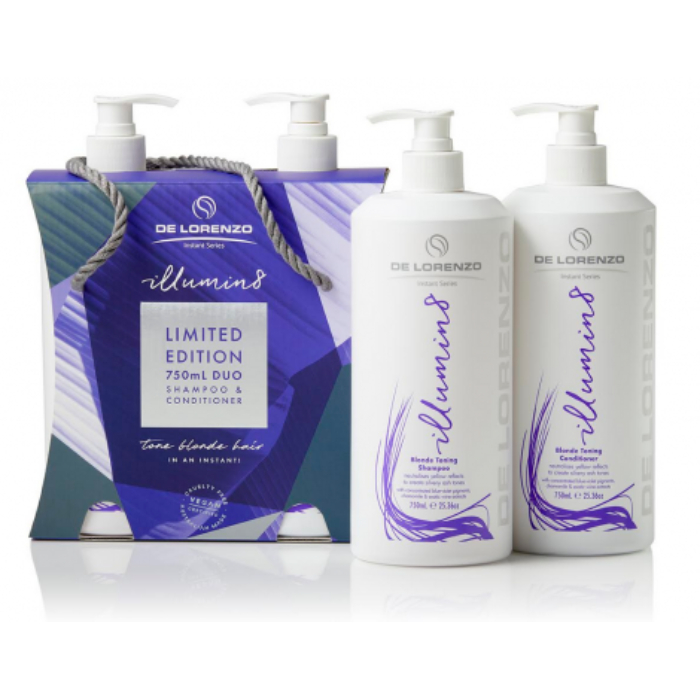 De Lorenzo Illuminate8 Shampoo And Conditioner 750ml Duo