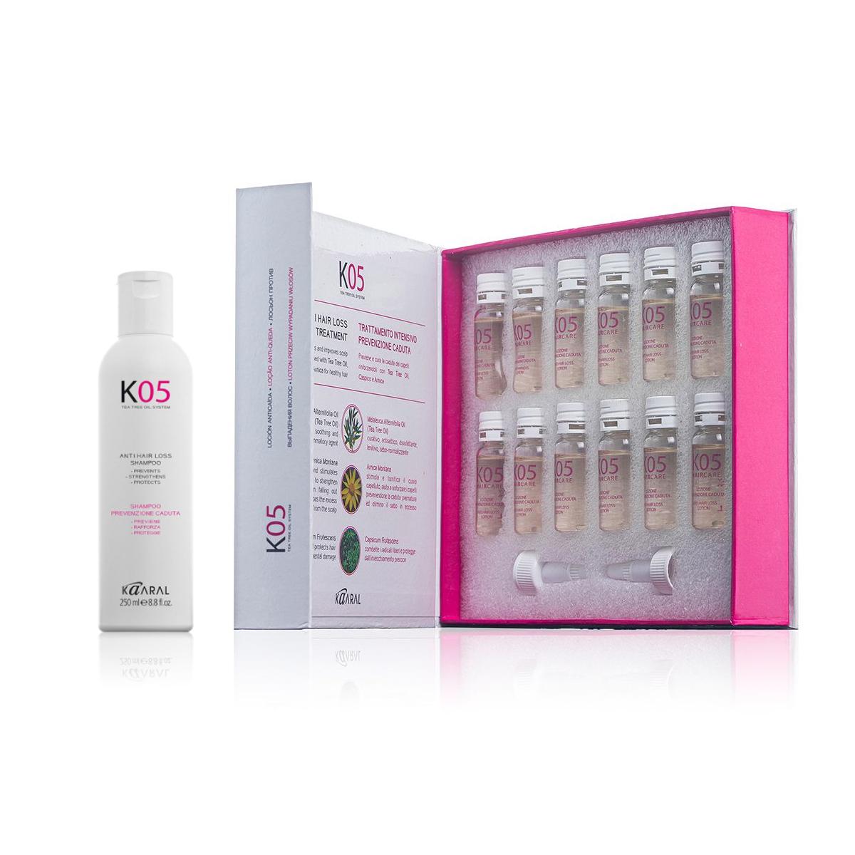 Kaaral K05 Anti Hair Loss Shampoo Treatment Duo 250ml