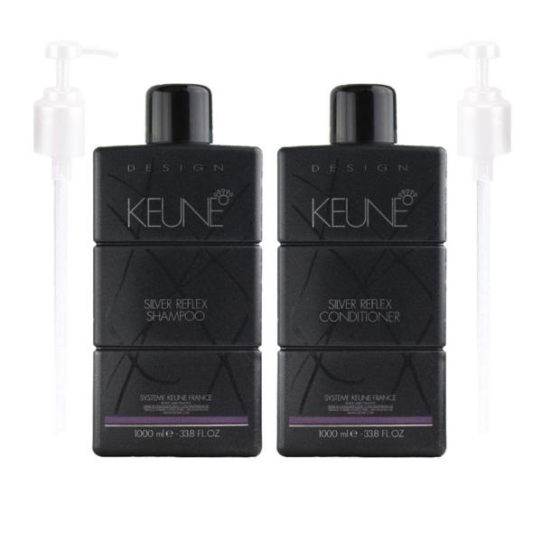 Keune Design Silver Reflex 1 Litre Duo + 2x FREE Pumps