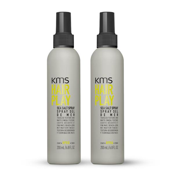 KMS Hair Play Sea Salt Spray 200ml Duo