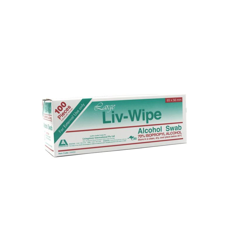 Livingstone Large Liv-Wipe Alcohol Swab 100pk