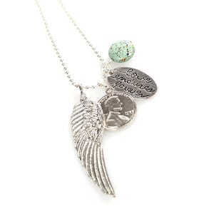 Atida Love Endures Forever Winged Necklace