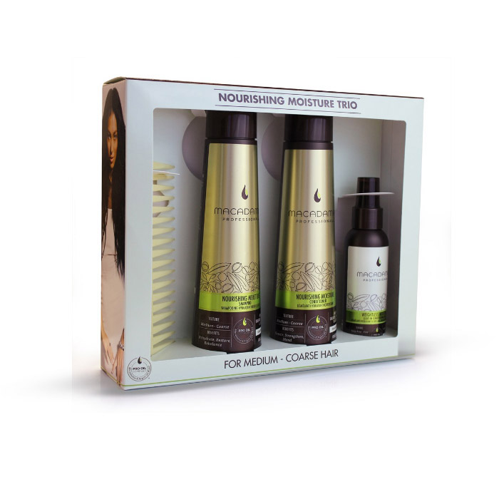Macadamia Natural Oil Nourishing Moisture Trio for Medium to Coarse Hair