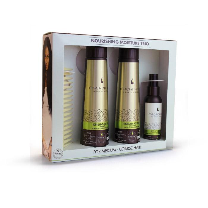 Macadamia Natural Oil Nourishing Moisture Trio for Medium to Coarse Hair