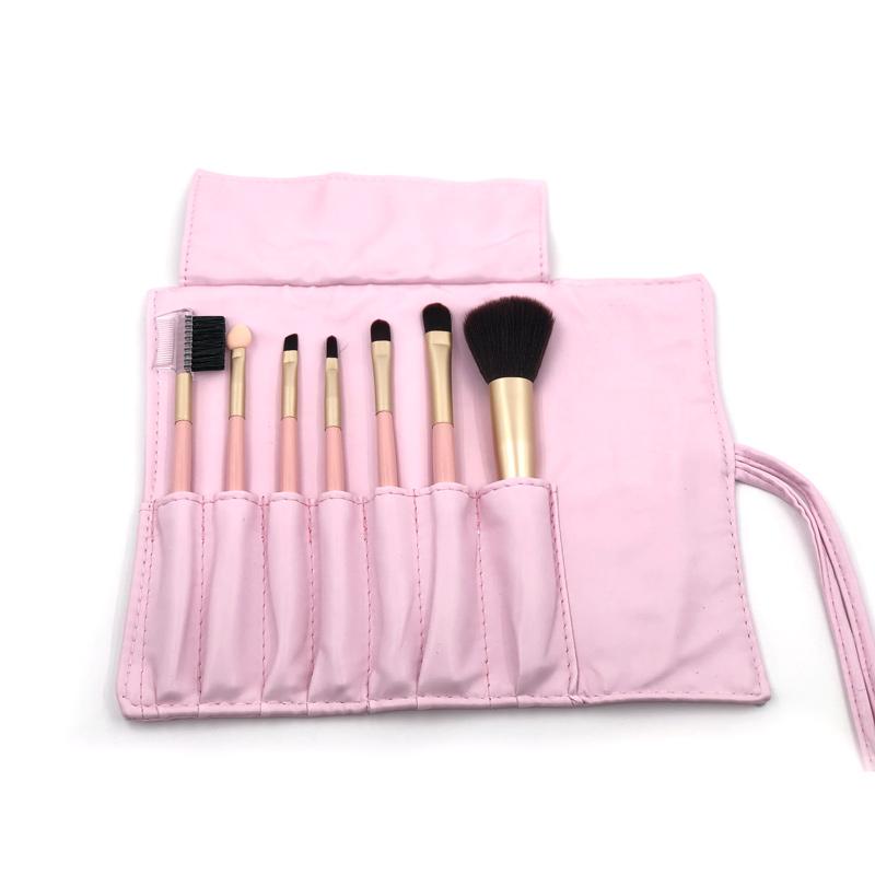 Pink Makeup Brush & Carry Bag
