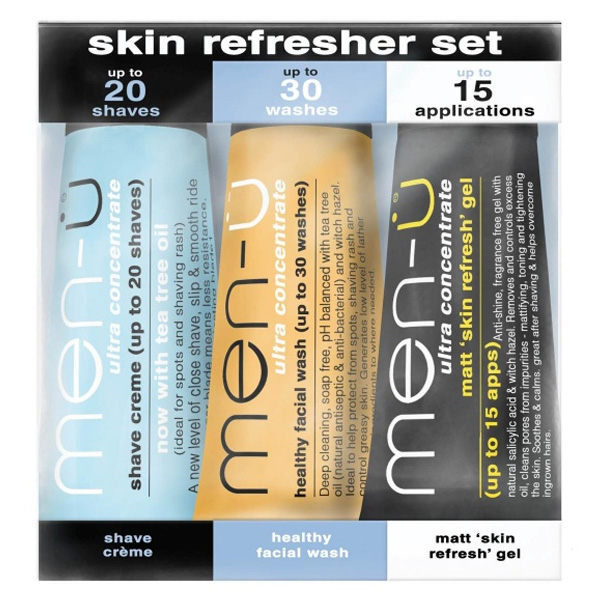 Men-u Skin Refresher Set (3x15ml buddy tubes)
