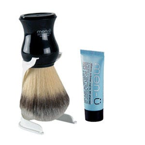 Men-u Premier Synthetic Shaving Brush (Black)