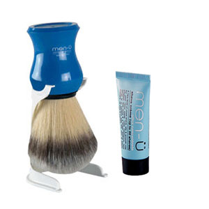 Men-u Premier Synthetic Shaving Brush (Blue)