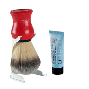 Men-u Premier Synthetic Shaving Brush (Red)