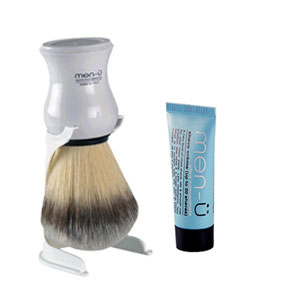 Men-u Premier Synthetic Shaving Brush (White)