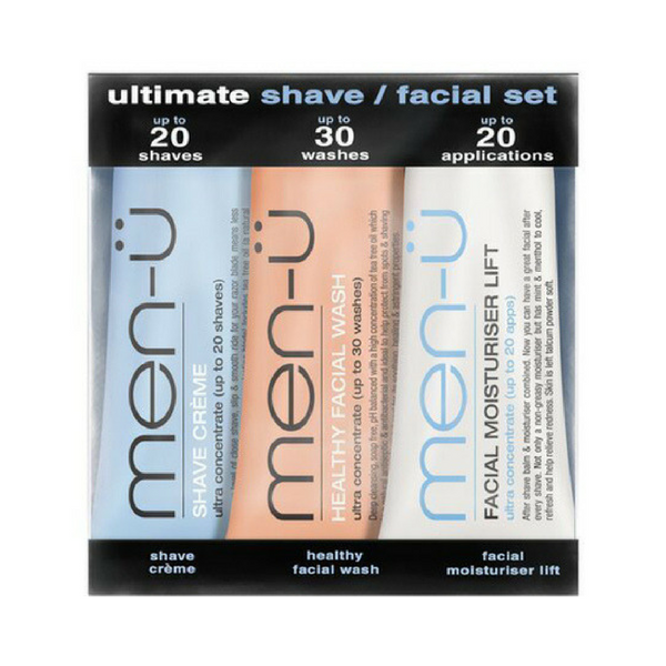 Men-u Ultimate Shave & Facial set (3x15ml buddy tubes)