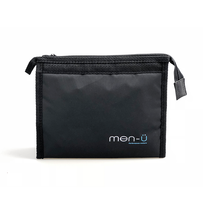 Men-U Black Toiletry Bag 20cm x 15cm