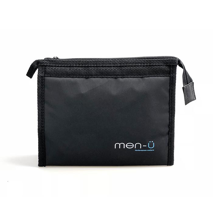 Men-U Black Toiletry Bag 20cm x 15cm