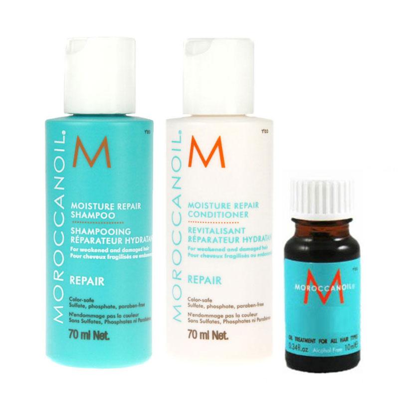 Moroccanoil Moisture Repair 70ml Duo + Treatment Oil 10ml