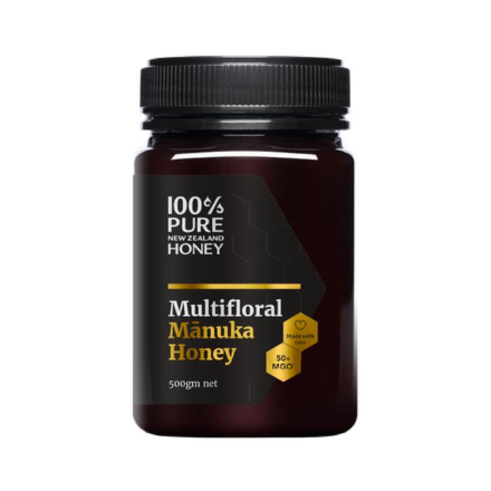 100% Pure New Zealand Honey Mānuka Multi Floral MGO 50+ 500g