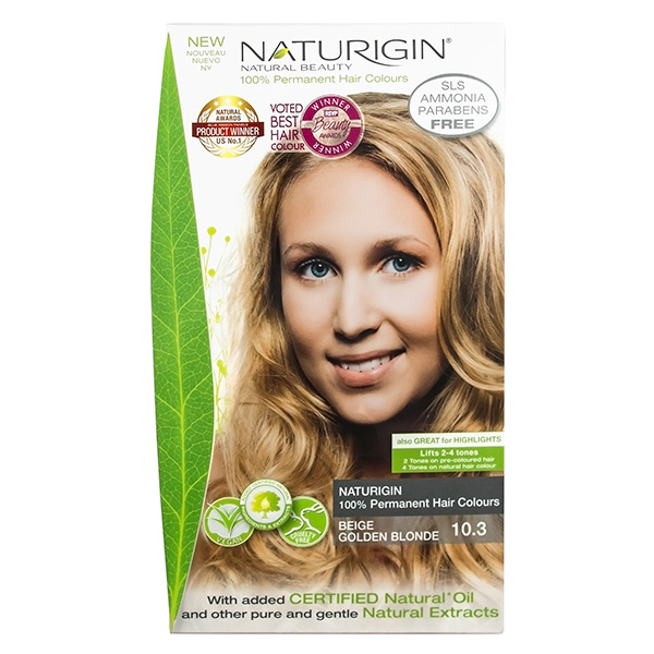 Naturigin Organic Hair Colour 10.3 Beige Golden Blonde