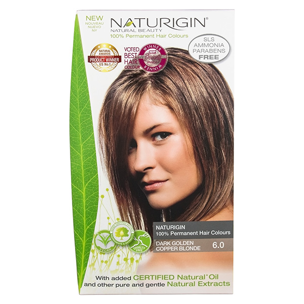Naturigin Organic Hair Colour 6 Dark Golden Copper Blonde