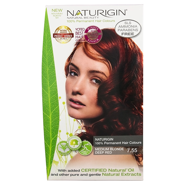 Naturigin Organic Hair Colour 7.55 Medium Blonde Deep Red