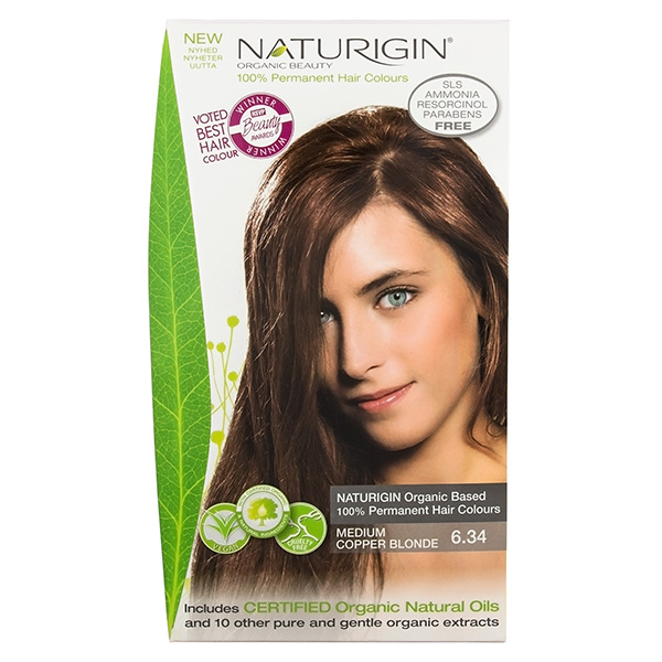 Naturigin Organic Hair Colour 6.34 Medium Copper Blonde