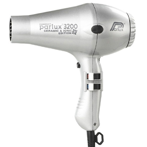 Parlux 3200 Compact Ceramic & Ionic Dryer Silver
