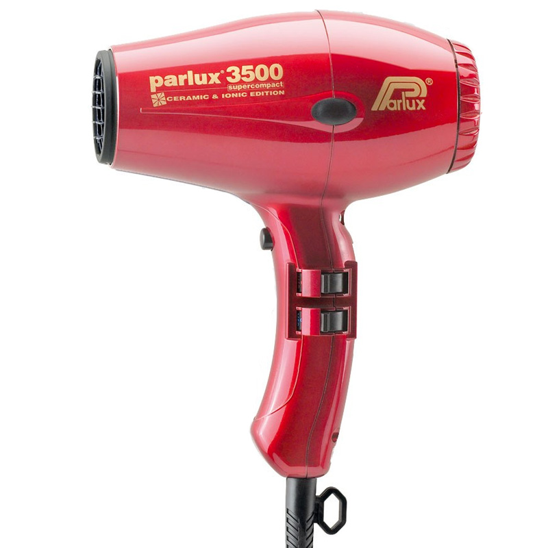 Parlux 3500 Super Compact Ceramic & Ionic Dryer 2000W - Red