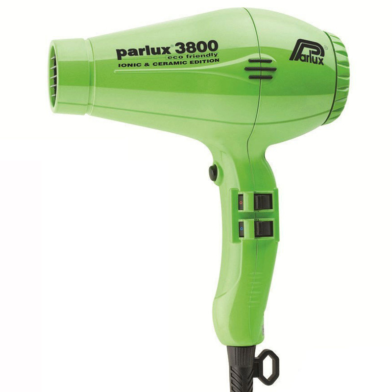 Parlux 3800 Eco Friendly Ceramic & Ionic Dryer Green