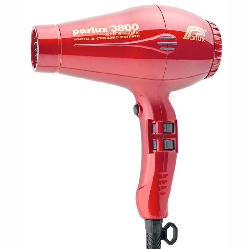 Parlux 3800 Eco Friendly Ceramic & Ionic Dryer Red
