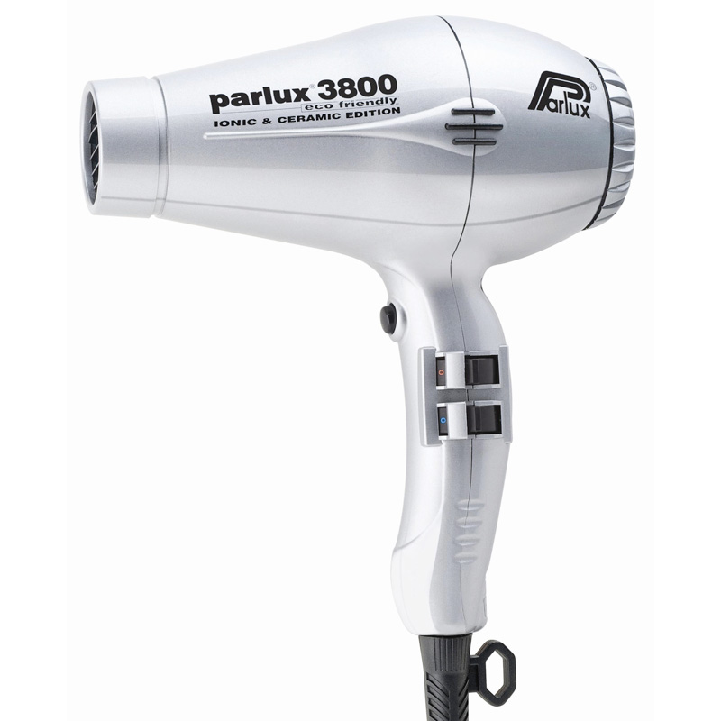 Parlux 3800 Eco Friendly Ceramic & Ionic Dryer 2100W - Silver