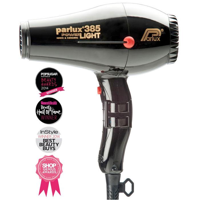 Parlux 385 Powerlight Ionic Ceramic Dryer 2150W - Black