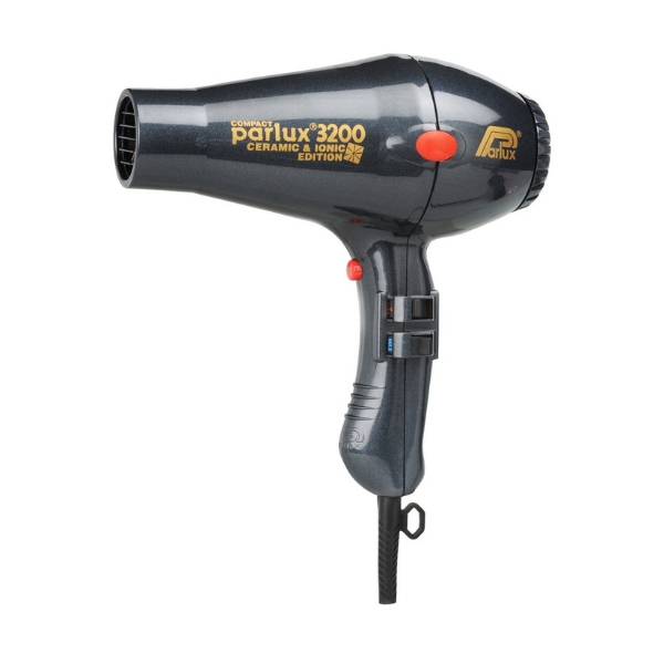 Parlux 3200 Compact Ceramic & Ionic Dryer 1900W - Charcoal