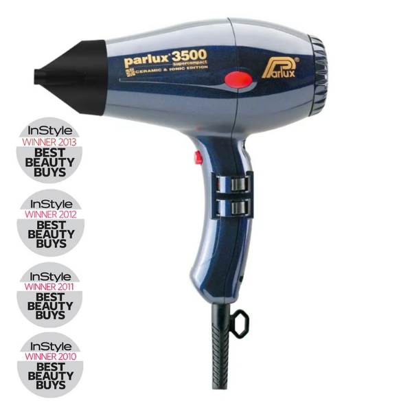 Parlux 3500 Super Compact Ceramic & Ionic Dryer 2000W - Blue