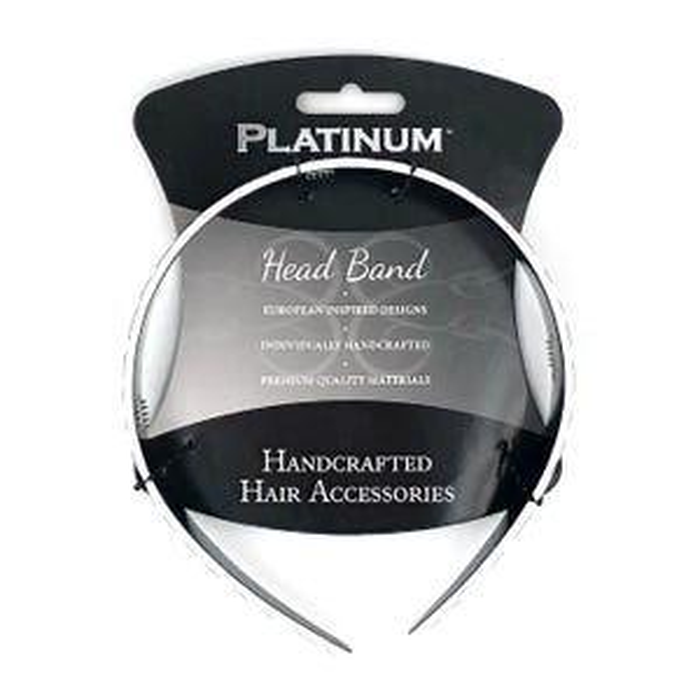 Cricket Platinum Zebra Headband