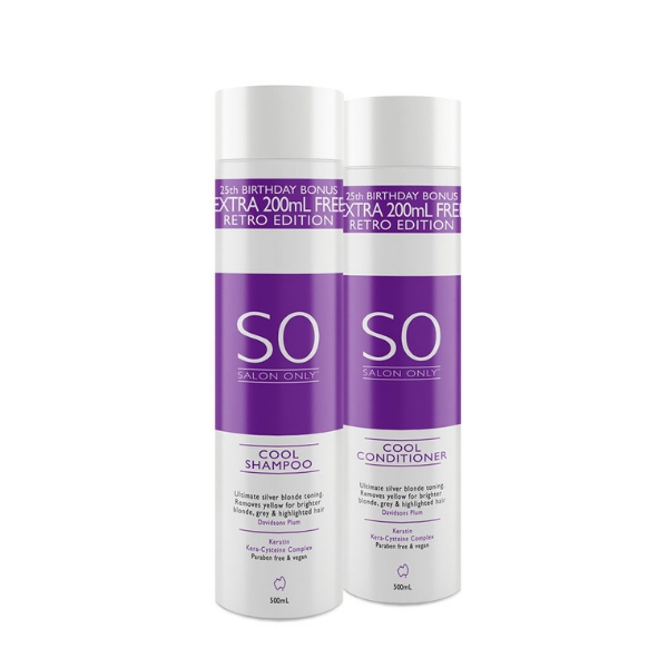 Salon Only Cool Ultimate Silver Blonde Toning Retro 500ml Duo Pack