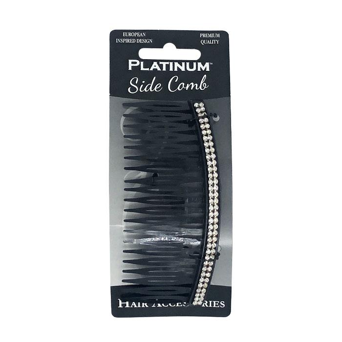 Cricket Platinum Diamonte Side Comb