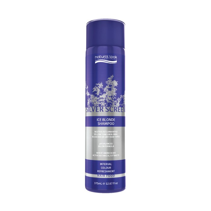Natural Look Silver Screen Ice Blonde Shampoo 375ml