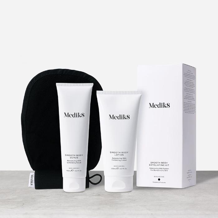 Medik8 Smooth Body Exfoliating Kit 150ml + 200ml + Mitt
