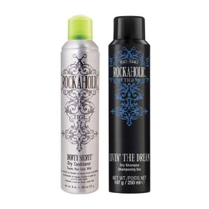 TIGI Rockaholic Dry Shampoo and Dry Conditioner Duo