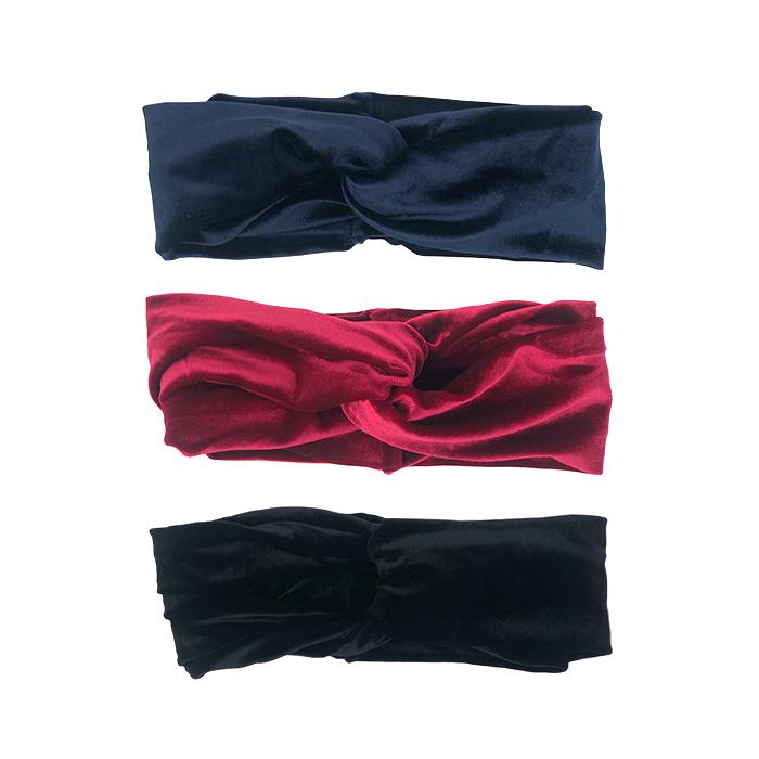 Velvet Headband 3 Pack