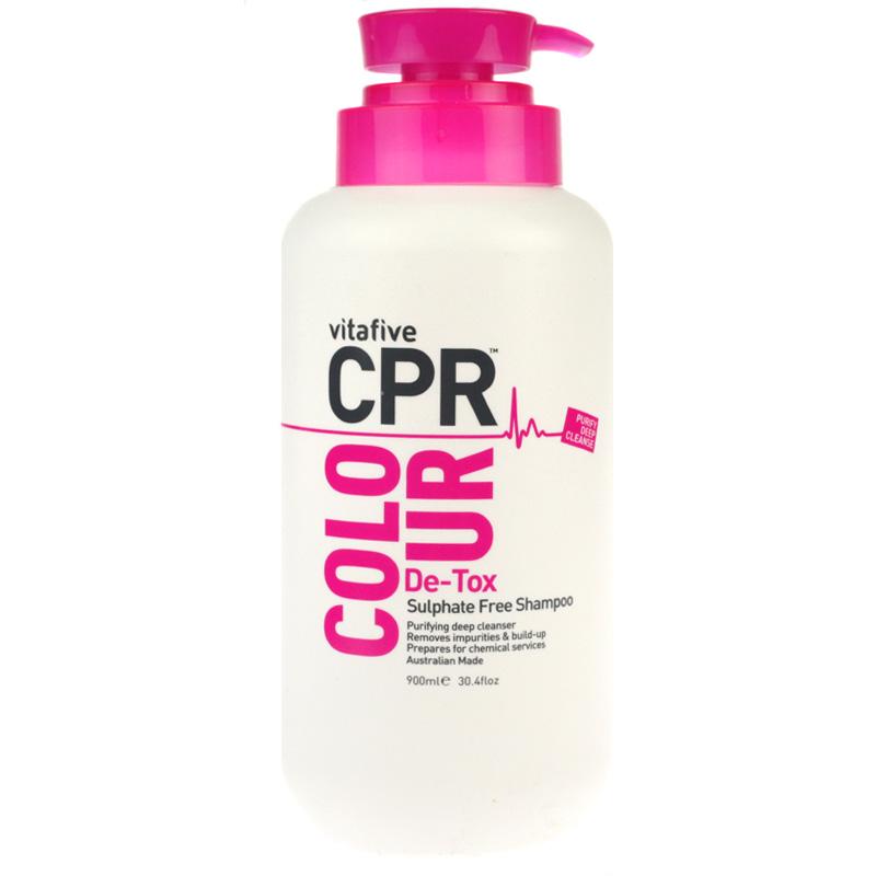 Vitafive CPR Colour De-Tox Sulphate Free Shampoo 900ml