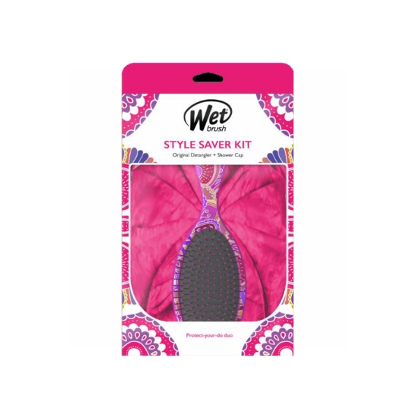 Wet Brush Style Saver Kit Pink