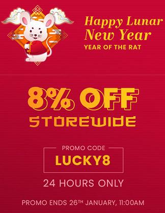 Extra 8% OFF Storewide