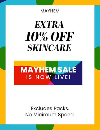 Mayhem 10% off skincare