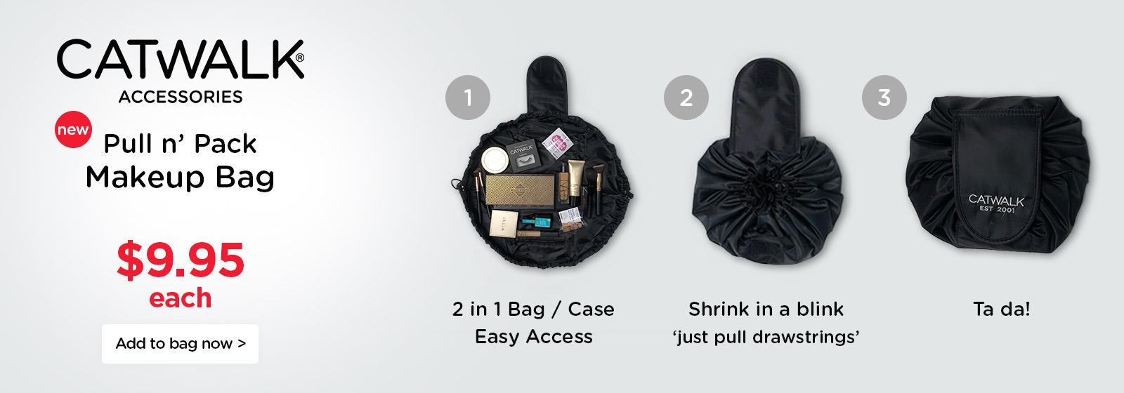 Catwalk Pull n' Pack Makeup Bag