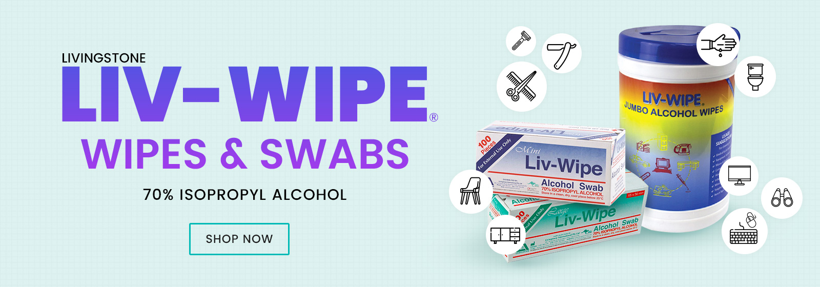 70% Isopropyl Alcohol Wipes & Swabs Available at Catwalk