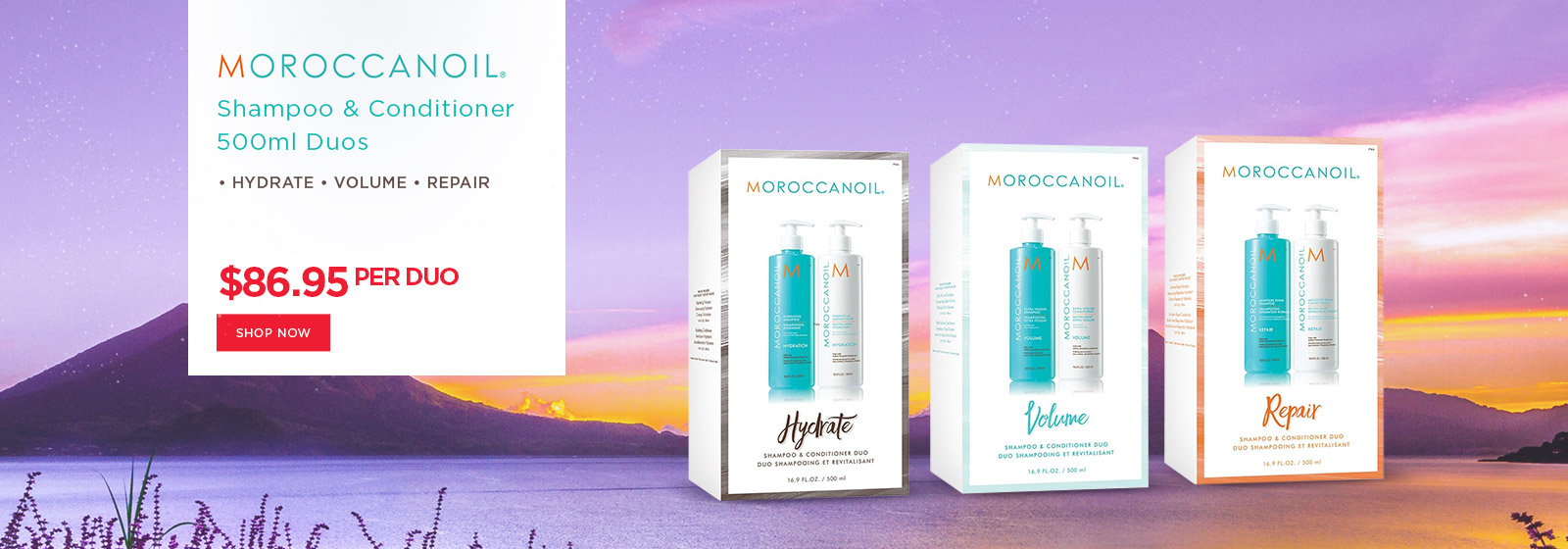 Moroccanoil 500ml Shampoo & Conditioner Duos Hydrate Repair Volume at Catwalk Australia