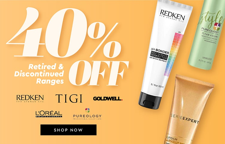 40% OFF Retired & Discontinued Ranges