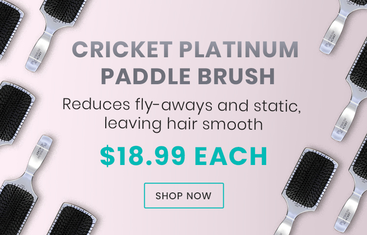 New Cricket Platinum Paddle Brush Available At Catwalk Hair & Beauty Store Australia