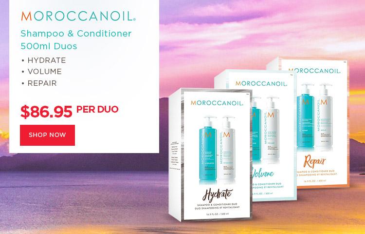 Moroccanoil 500ml Shampoo & Conditioner Duos Hydrate Repair Volume at Catwalk Australia