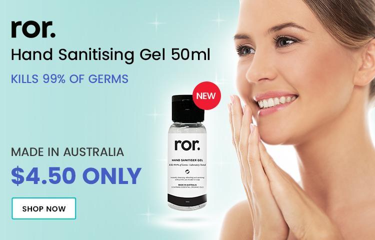 Ror Hand Sanitiser Gel 50ml Now Available - Catwalk Hair & Beauty Australia
